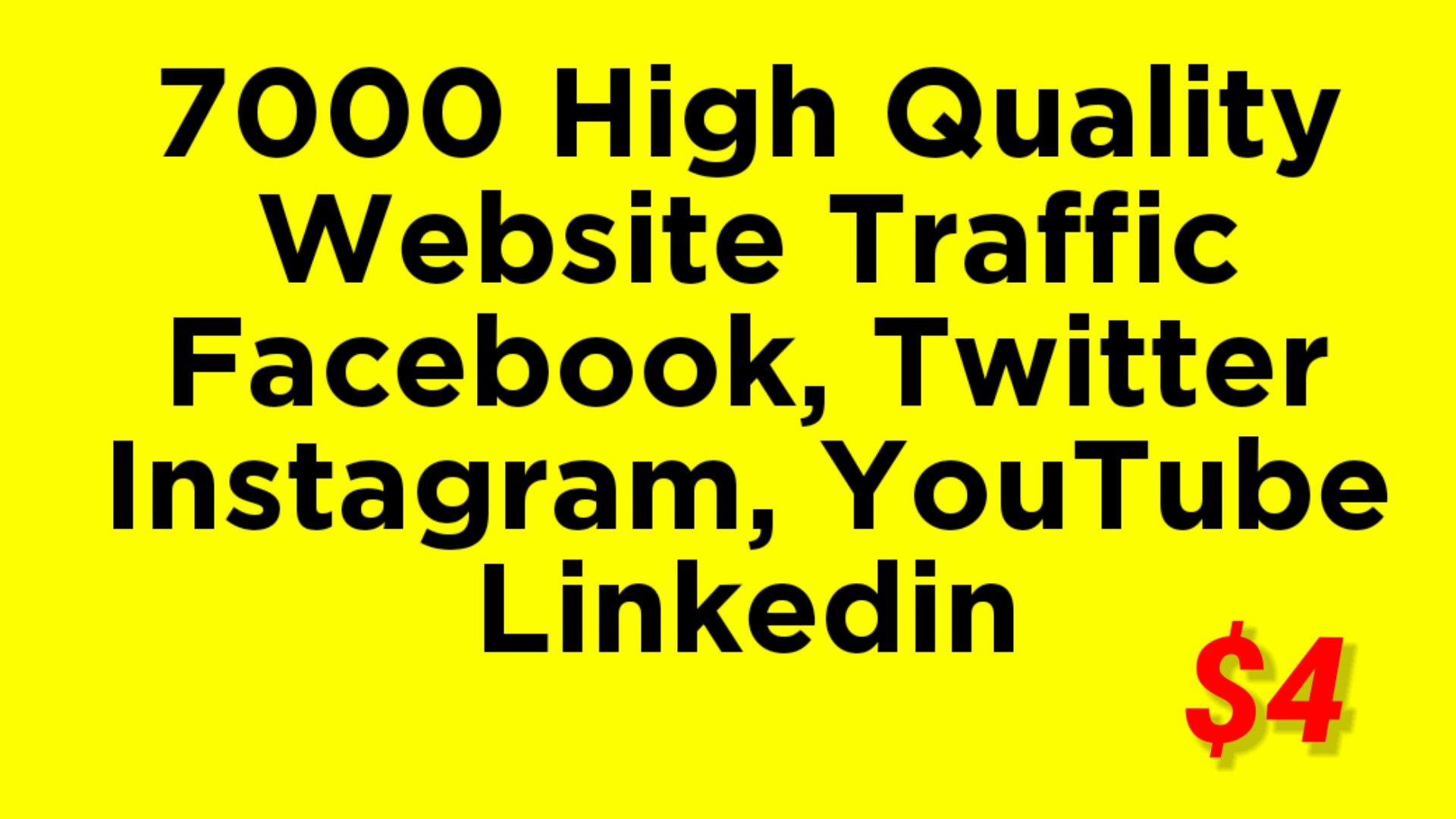 Real HQ 7000 + human worldwide website traffic