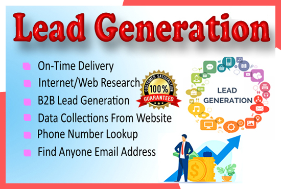 I will do web research lead generation for your targeted business up to 50 leads