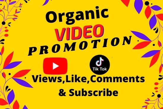 I will do organic video promotion with active audience