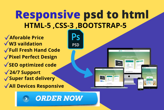 Psd to html,  xd to html,  AI to html,  psd to bootstrap