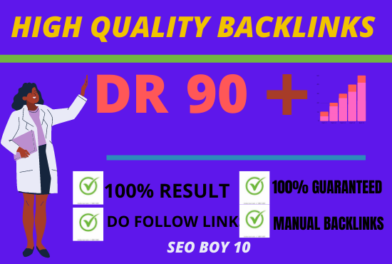 i will build high quality DR 70 dofollow backlink.