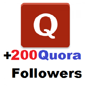Send High Quality 200+ Quora Followers Delivery Within 48hours
