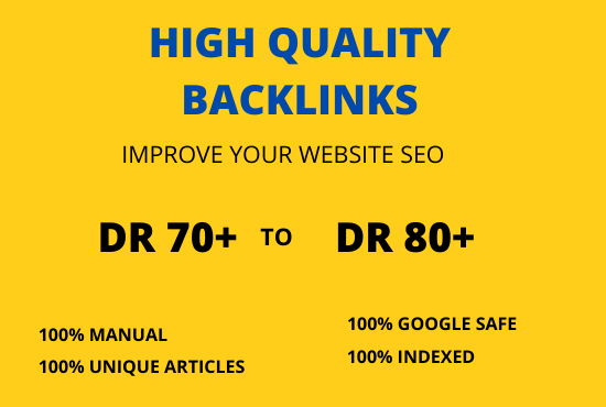 I Will do high quality DR 70 to 80 manual SEO