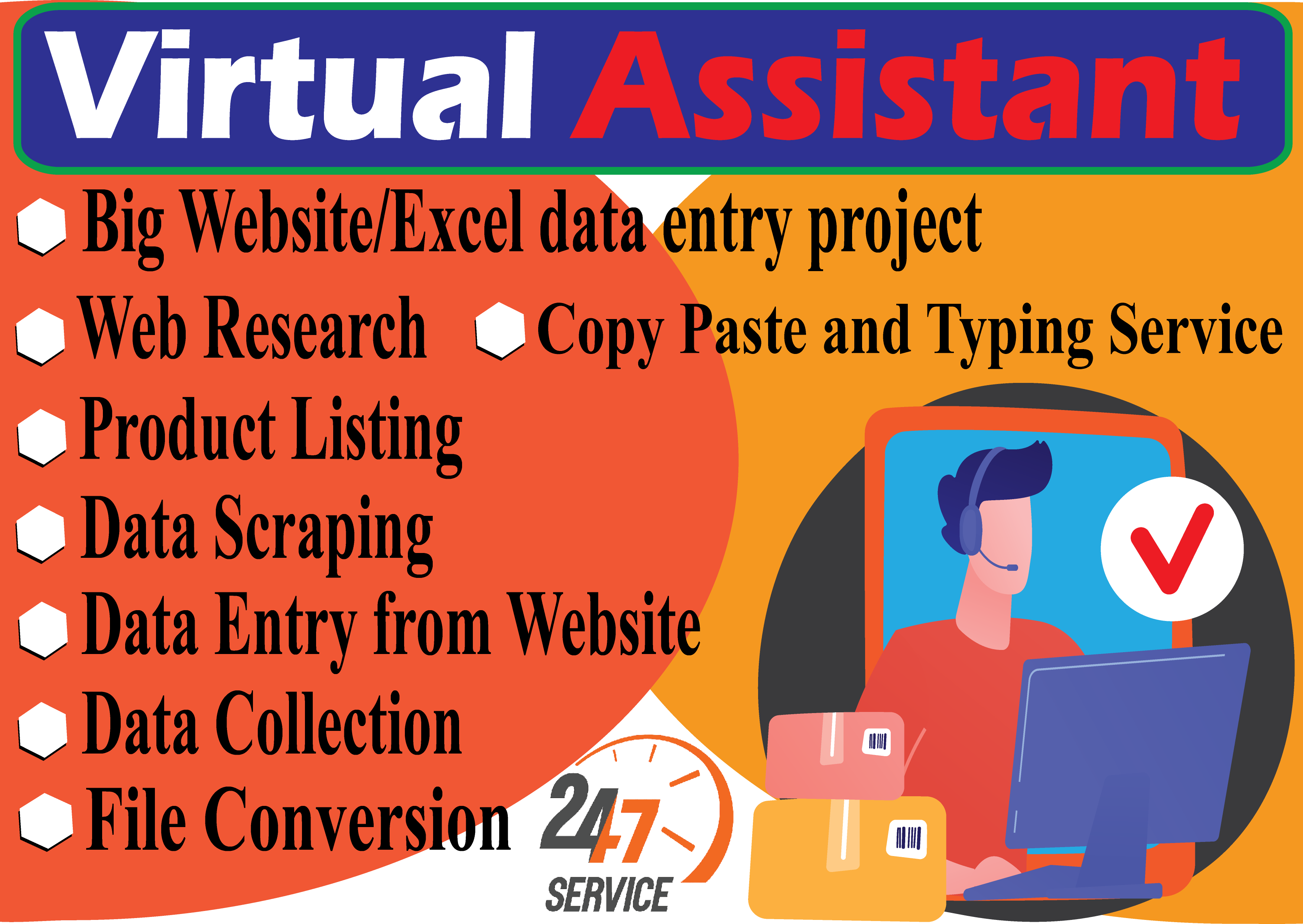 I will do data entry, copy paste, data mining, excel data entry, web research