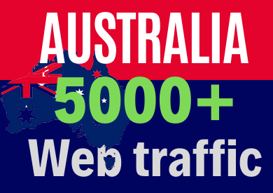 5000+Australia TARGETED low bounce and long visit Human traffic to Your Website.