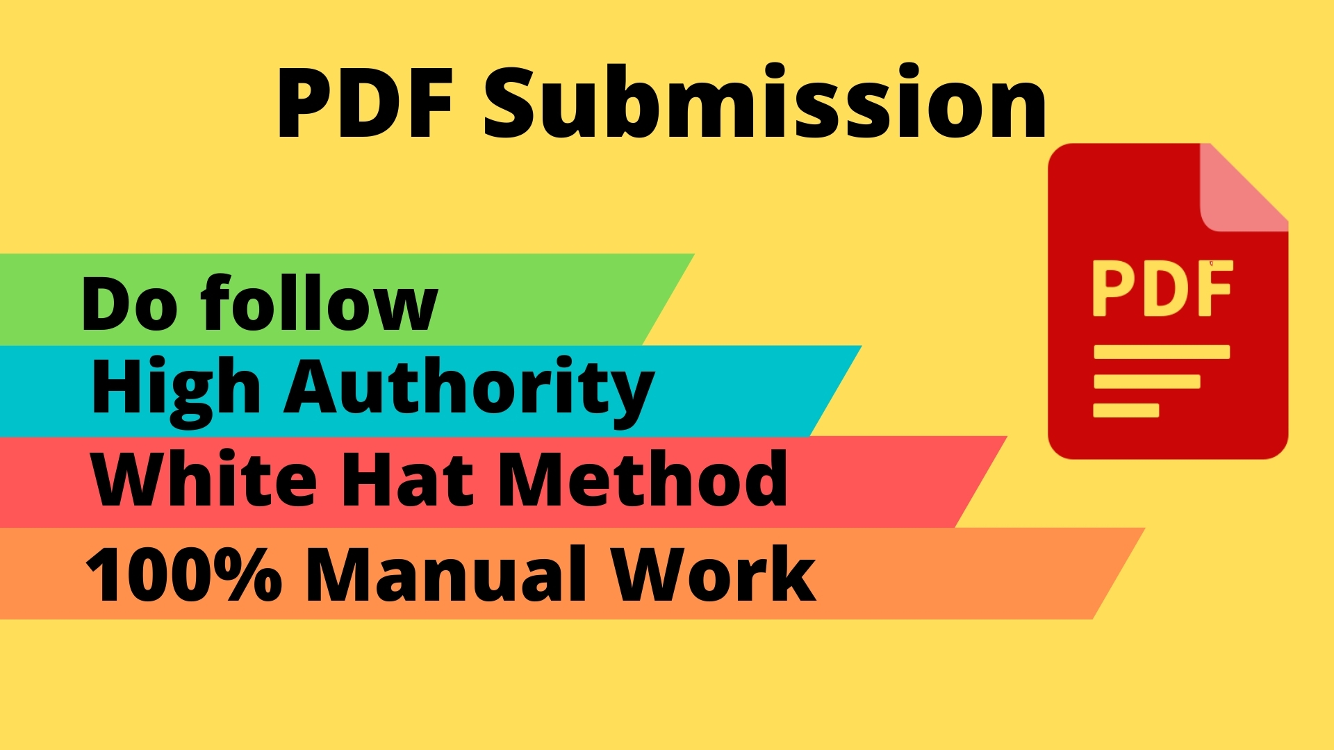 I will do 50 PDF submission manually on high authority document sharing sites