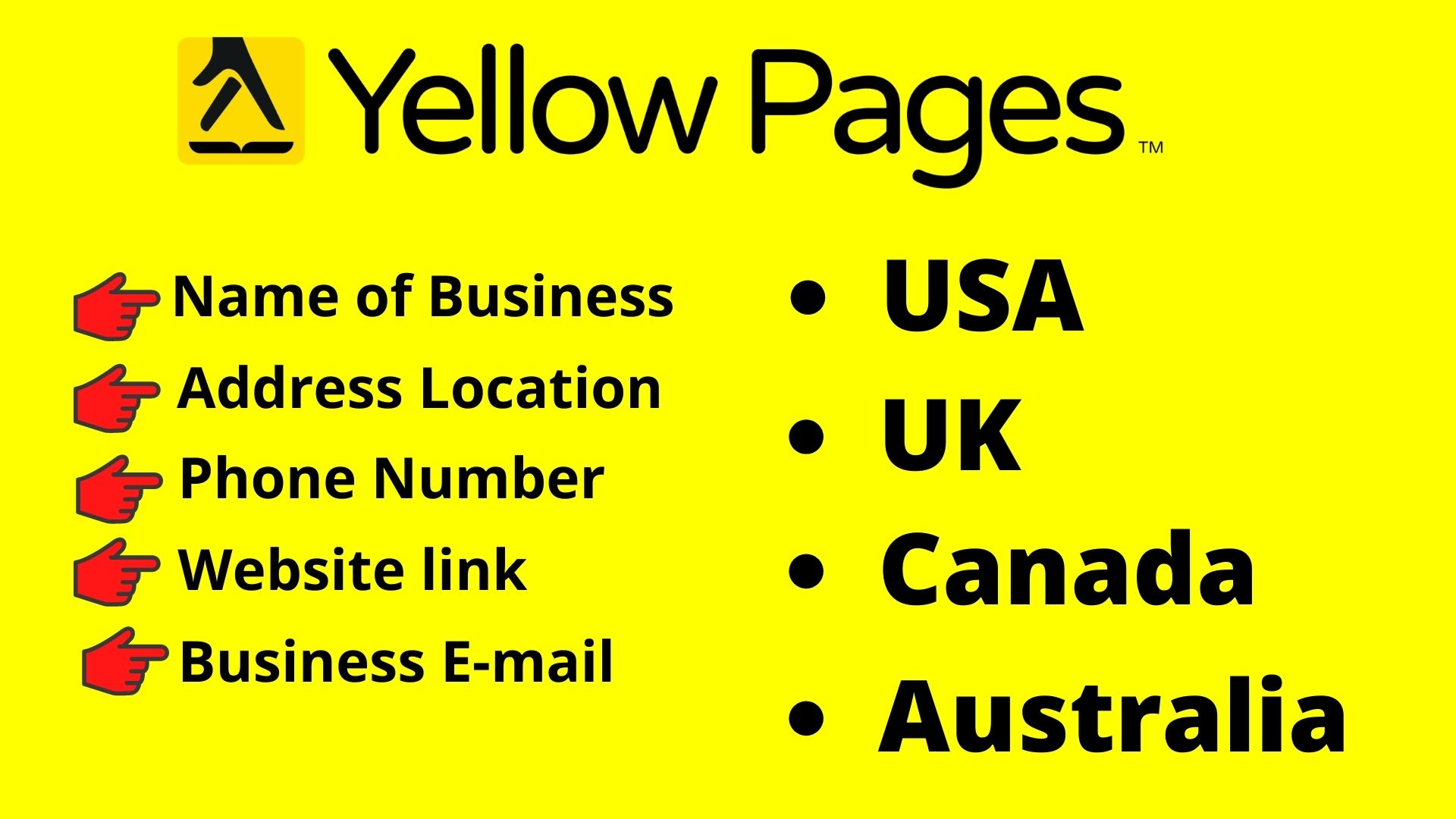 I will do Yellow page scraping to grow up your business within 24hr