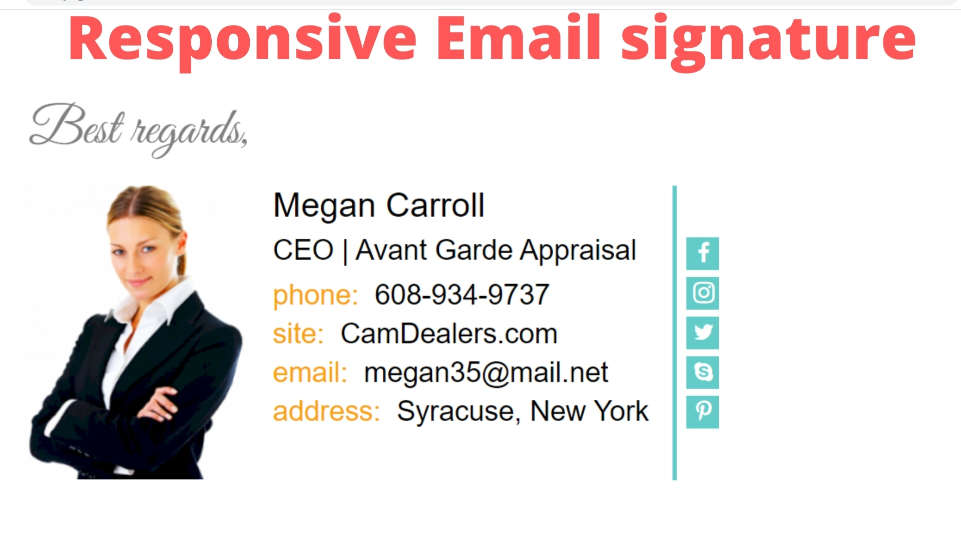 I will design a responsive Email signature