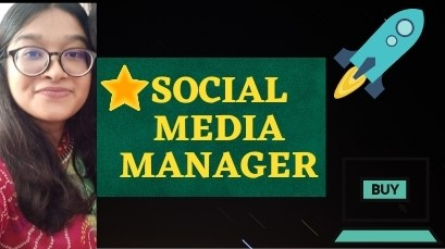 I will be your Social media manager and will grow your business