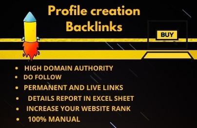 I will create manually High Authority DA50-100 100 best profile backlinks
