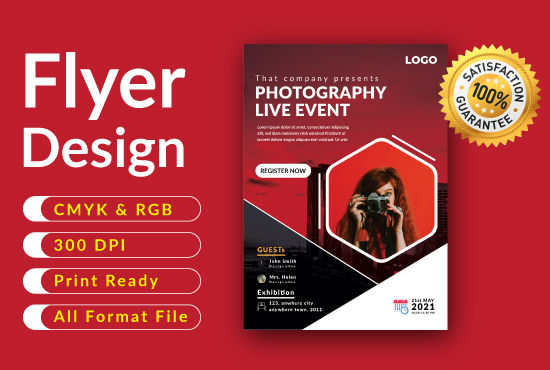 I will design Business logo and flyers.