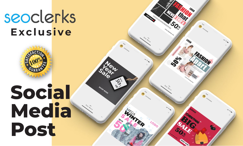 I will do social media post design