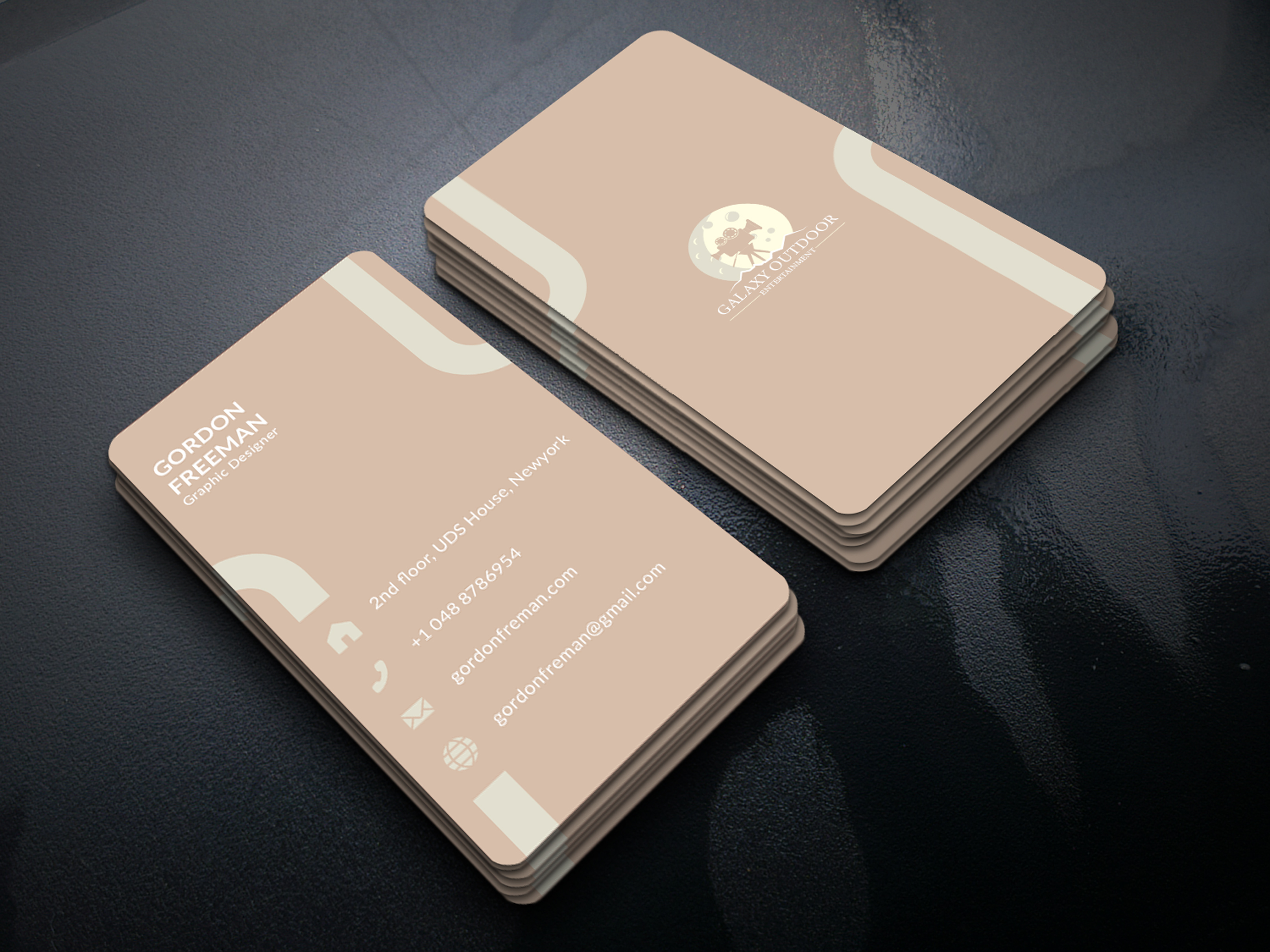I will design modern luxury business card