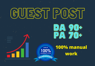 I will Write and Publish 10 Guest Posts 10 different websites DA 90+ any category,  any language for
