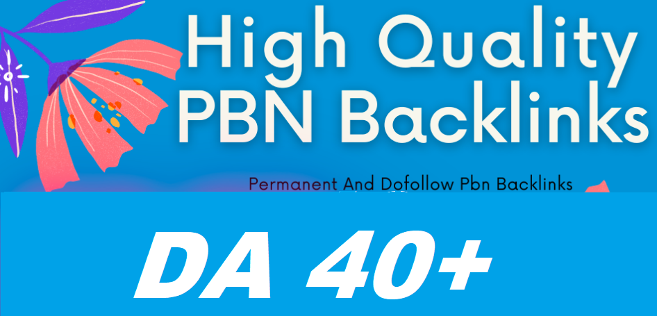 I will Give 50 Permanent Homepage Pbn backlinks from DA 40 plus