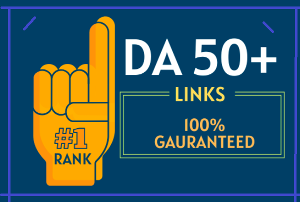 I will Make 5 Backlinks on DA 50+ sites to Rank on 1 page of google