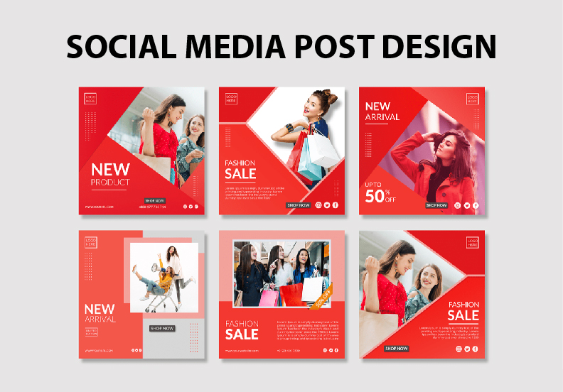 I will create 2 social media post for you