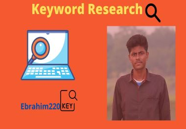 I will do SEO Keyword research for your aspiration nitch