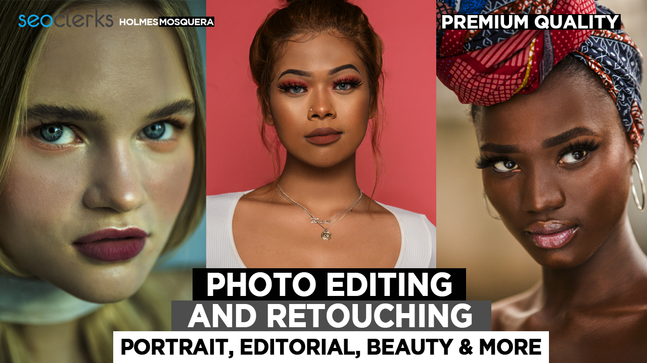 Retouch photo and edit professional image in one day