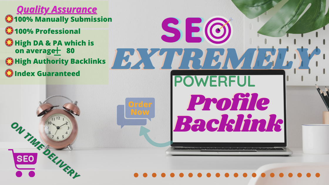 Manual 60 High Quality Do-follow Profile Backlinks DA 70+
