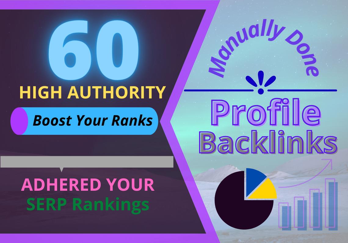 60 Manual High DA Profile Backlinks