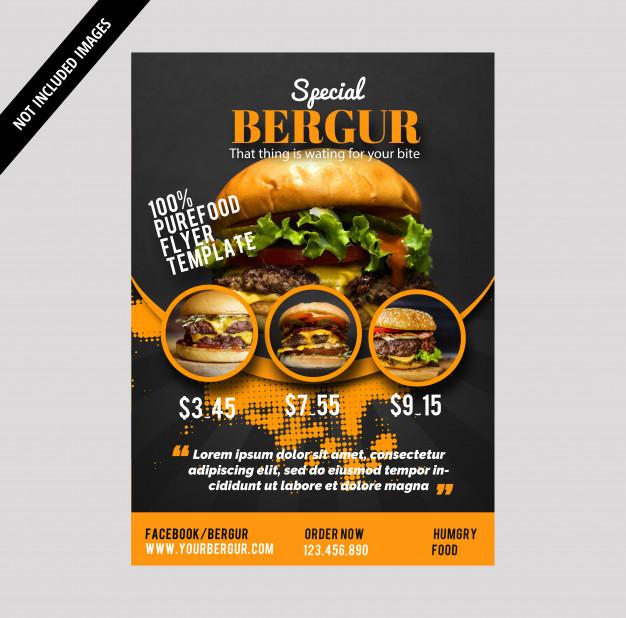 I will design amazing food & restaurant's Flyer