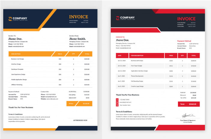 I will design letterhead, invoice, quotation and receipt