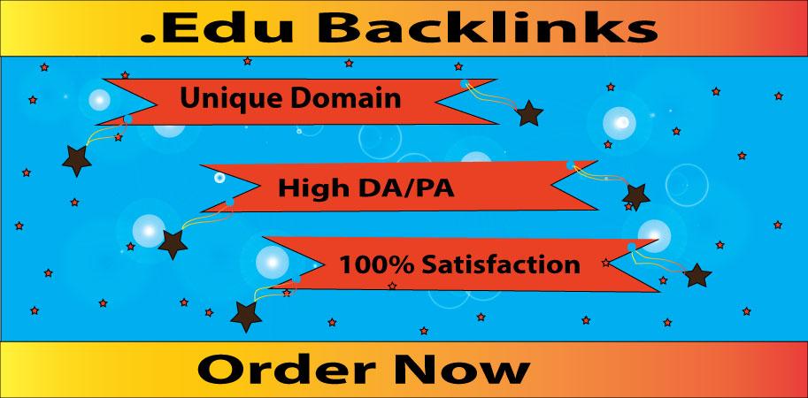 I will do 10 Edu Gov High DA SEO Backlinks Link building