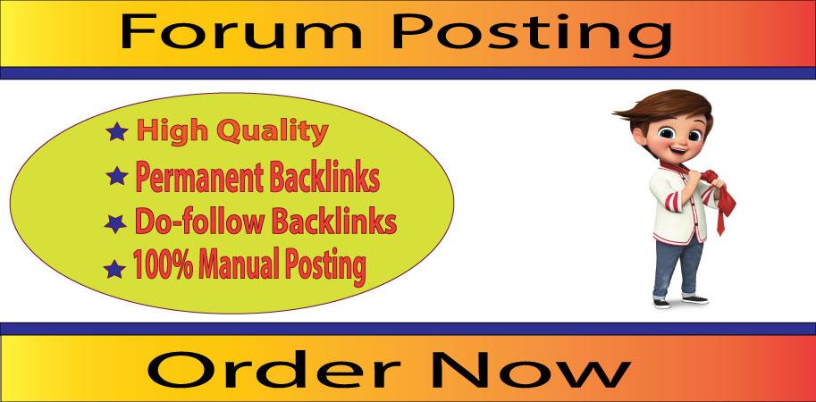 Manually Create 20+ Forum Posting SEO Strong Backlinks On High DA/PA Sites