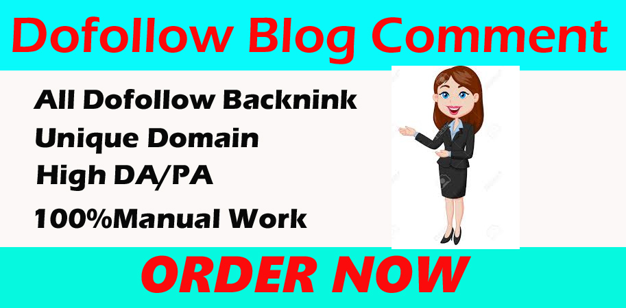 i will create 60+ dofollow backlinks blog comments on actual page