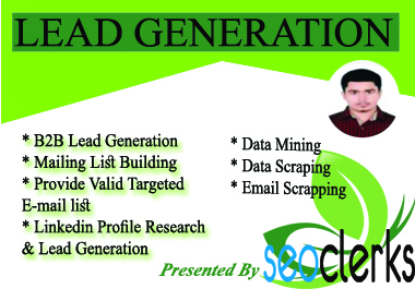 I provide and ensure lead generation for b2b and verified leads on your area.