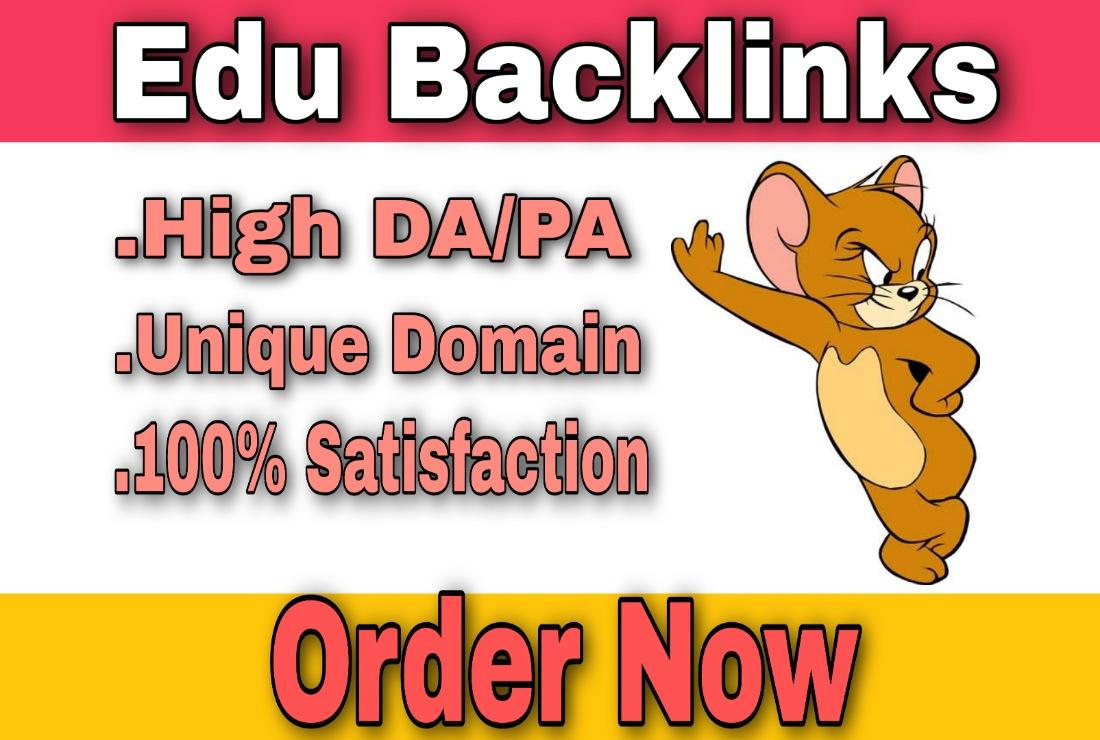 I will do 10 EDU Link building For SEO Back links