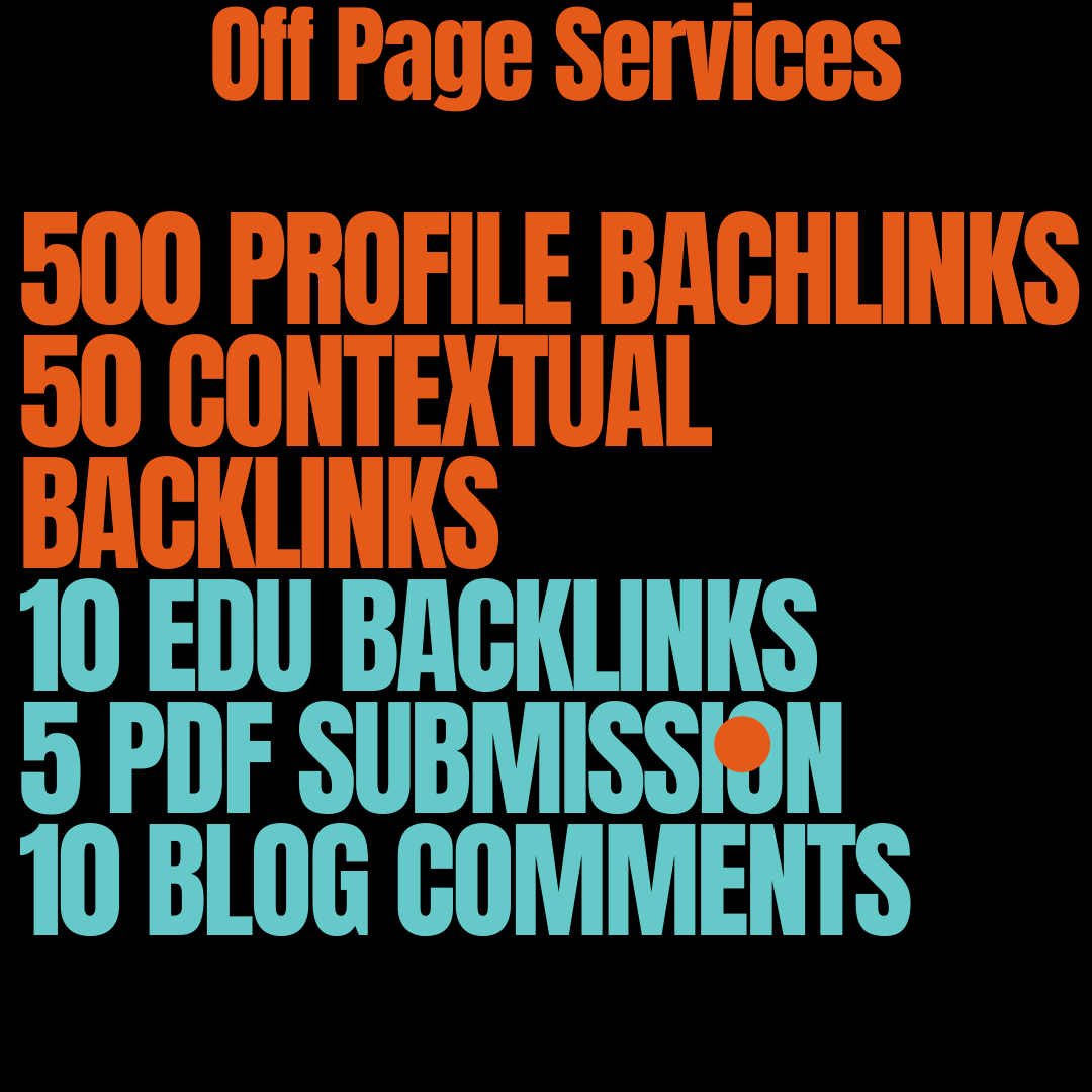 I Will Do 500 Profile Backlinks,  50 Contextual Backlinks,  10 EDU Backlinks 5 PDF Submission
