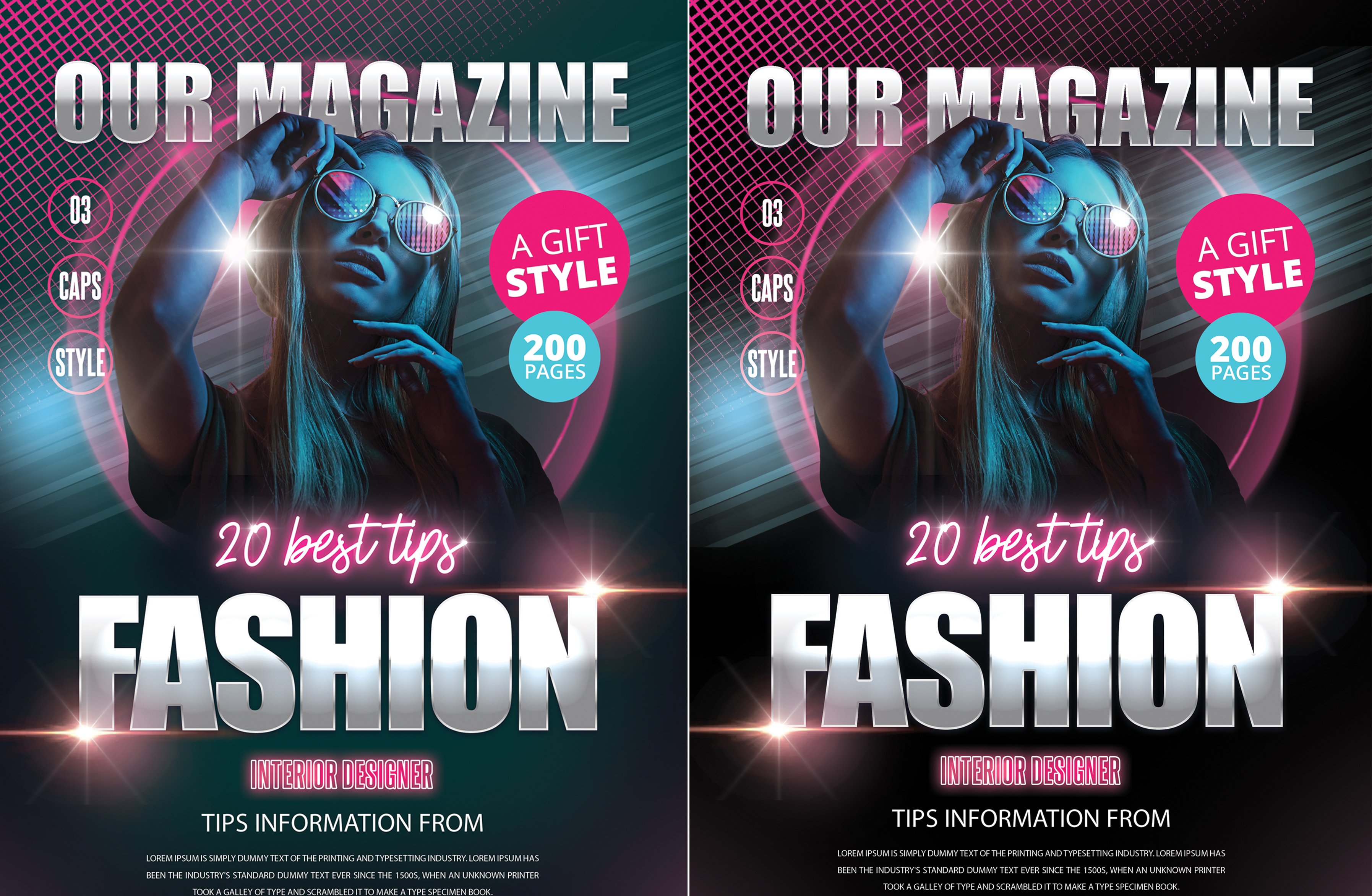 I will design eye Cathy magazine cover,  layout exclusively on seoclerks