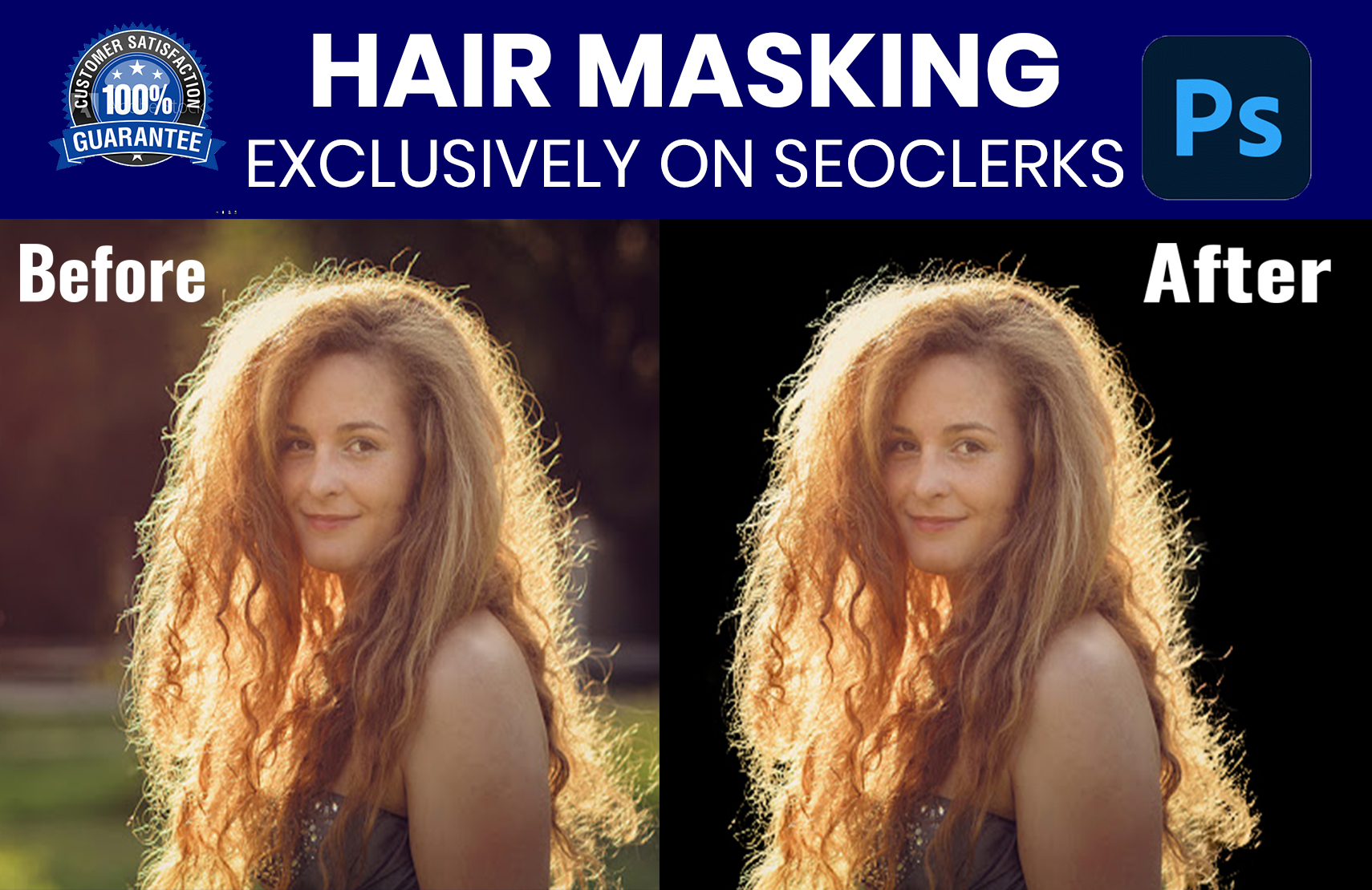 I will do photoshop hair masking professionally with low price