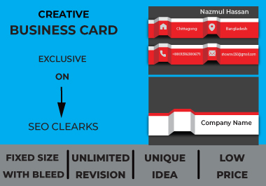 Will make you a professional business card at minimum price