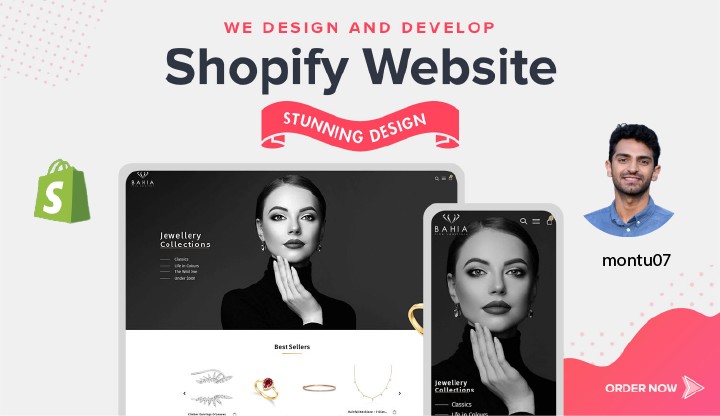 design shopify dropshipping store or shopify website