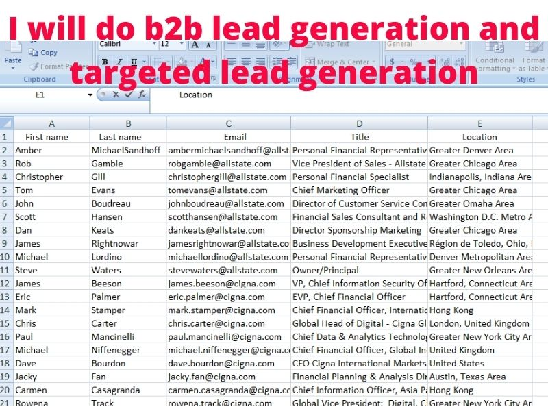 I will do b2b lead generation and targeted Linkedin lead generation