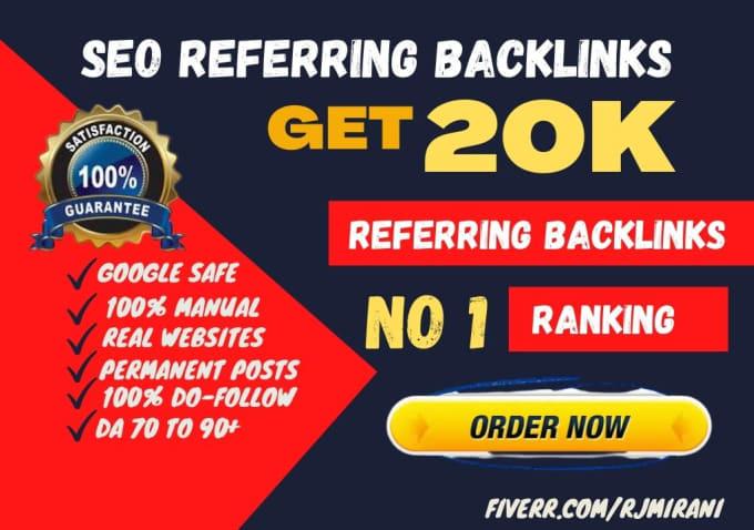 I will provide referring domain backlinks for seo ranking