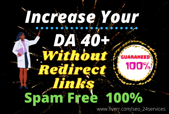 increase MOZ DA 35+without redirect links NO 301 links
