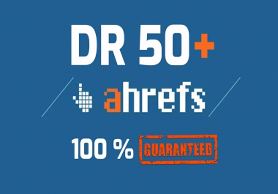 i will increase Ahref domain rating DR 50 plus fast