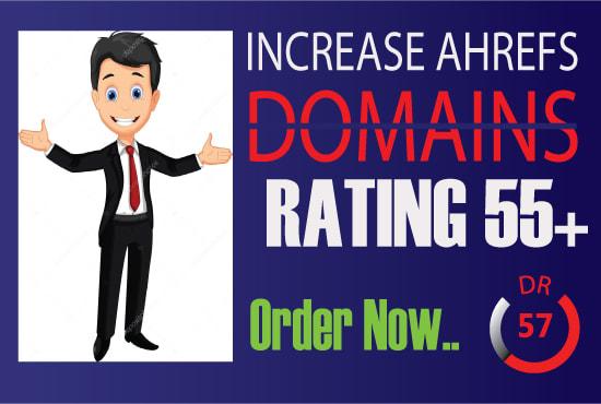i will increase Ahref domain rating DR 50 plus fast Guaranteed