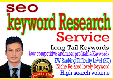 I will do SEO keyword research and competitor analysis for google ranking