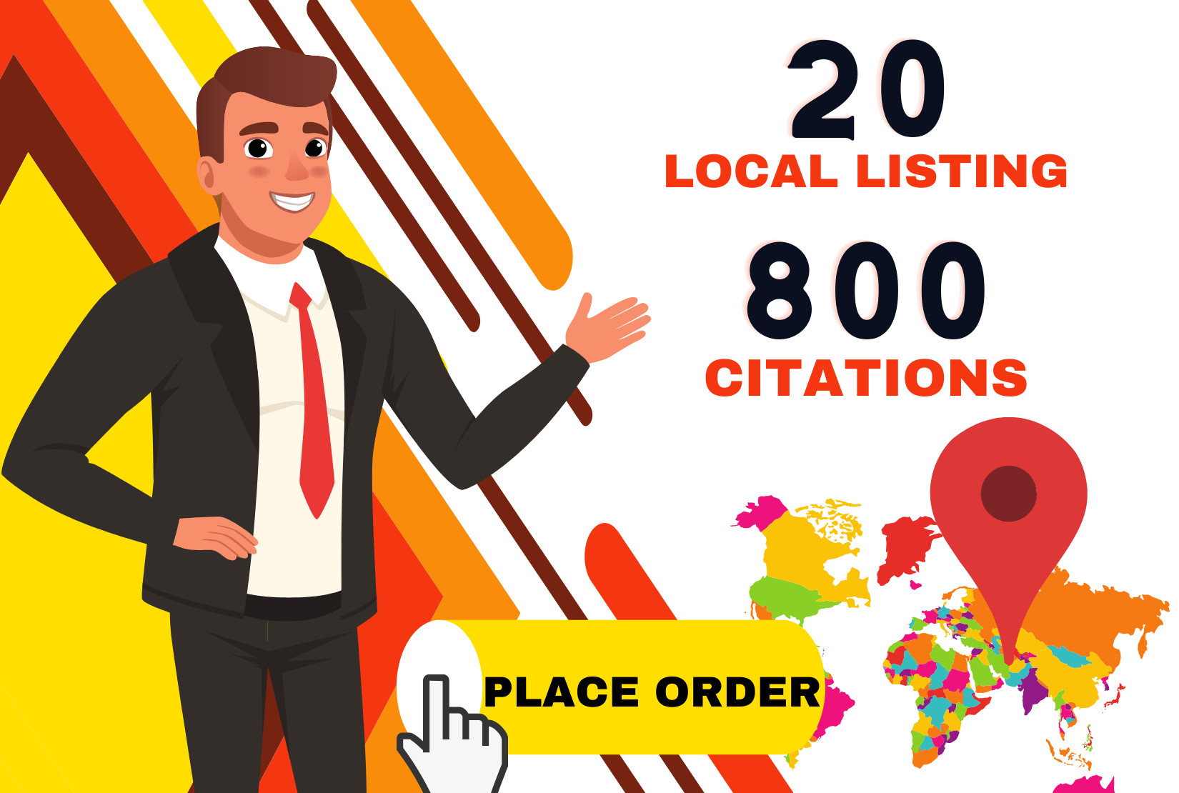 I will do local listing with 800 google map citations any country