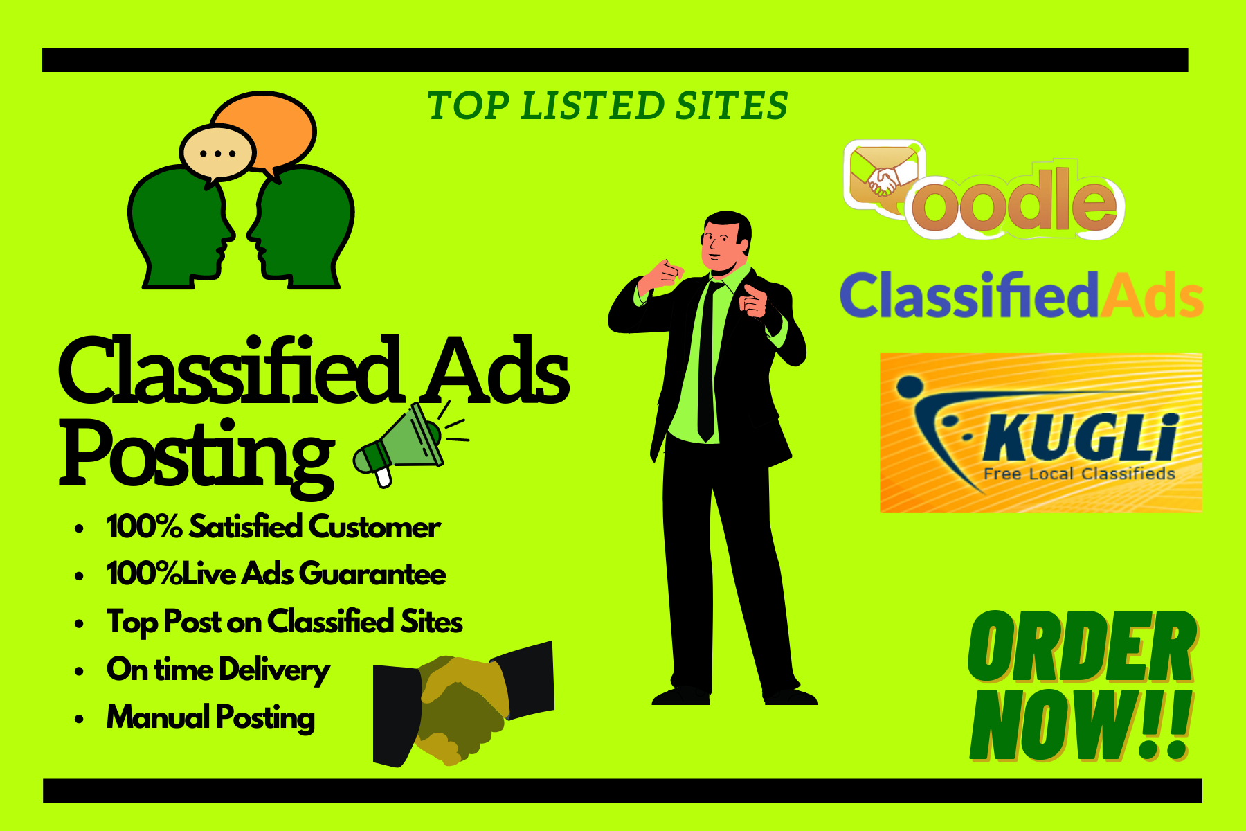 Get 100 High Quality Manual Ad post on high DA PA Sites
