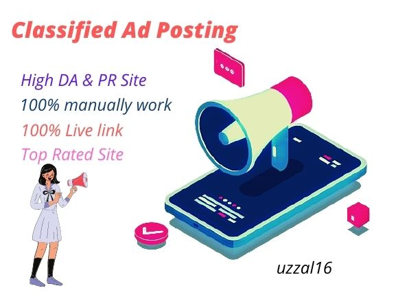 I Will Do Manually Post Your Classified Ad Posting On Top Sites