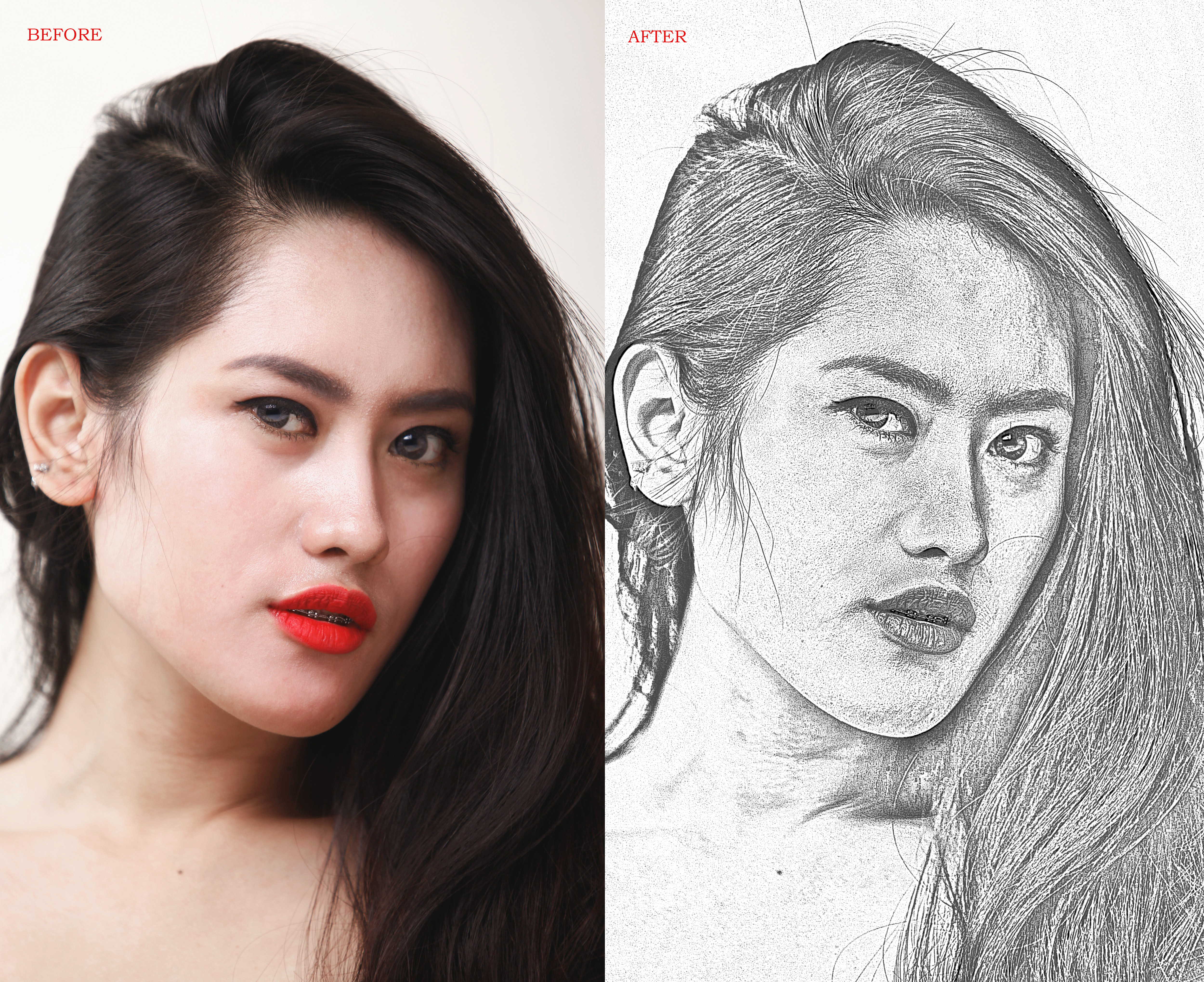 I will draw realistic pencil sketch from your photo