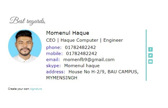 I will creat your html signature