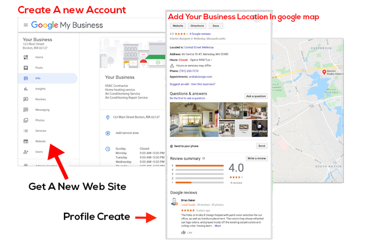 Set up and manage google my business profile for local SEO