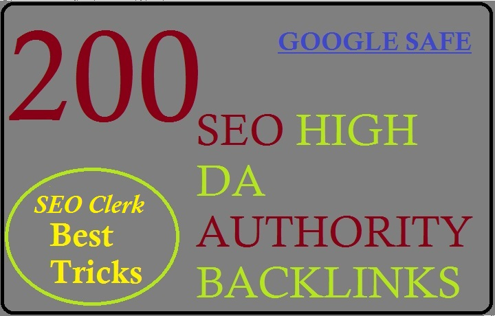 Create 200 SEO high da authority Backlinks Blaust your google Ranking